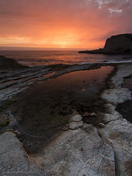 sunset, panther beach, santa cruz