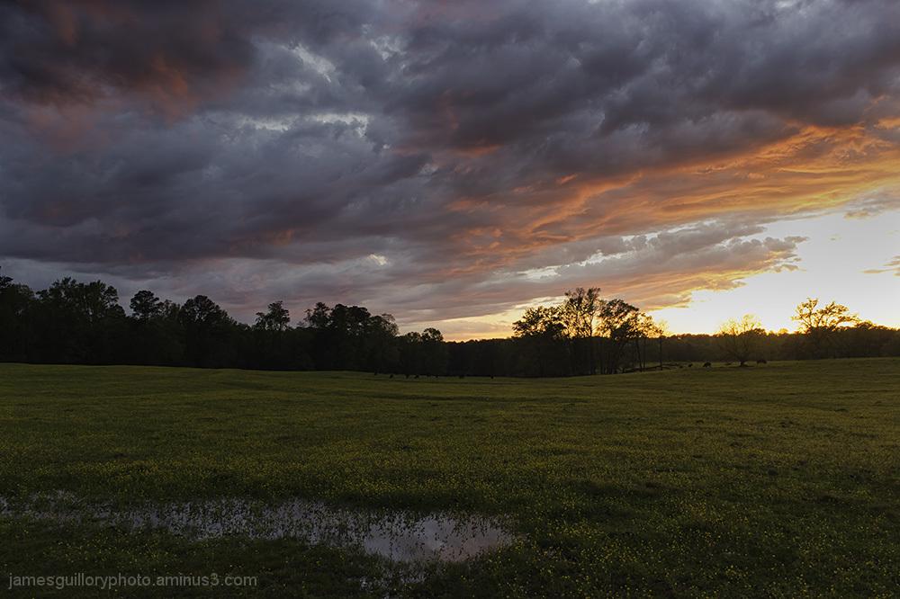 garner, north carolina, clearing storm at sunset