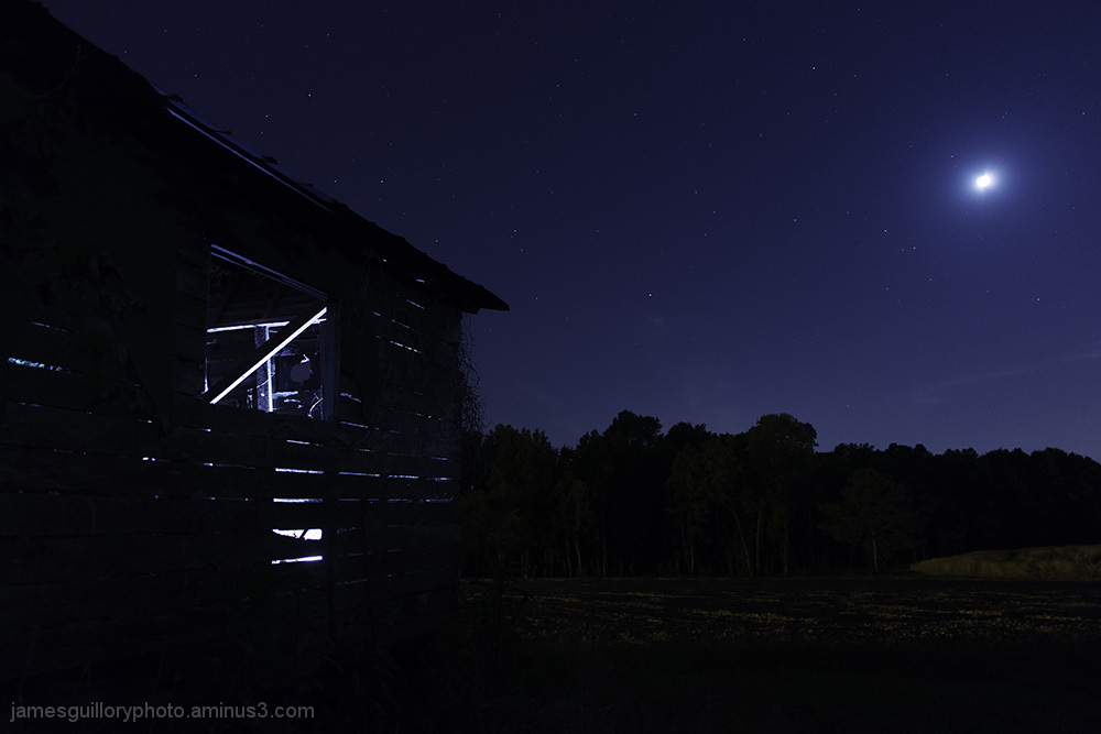 old farm house, night photography, garner, nc