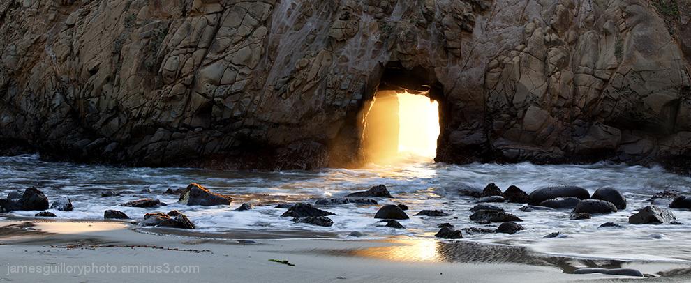 pfiffer beach, suset, big sur, california,