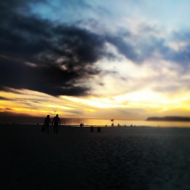The beach at the Hotel del Coronado.