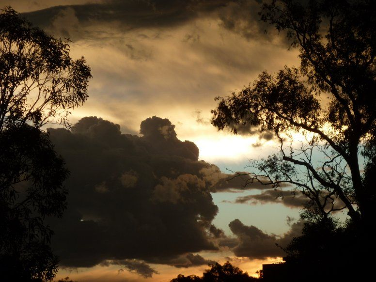 sunset after storm canberra act