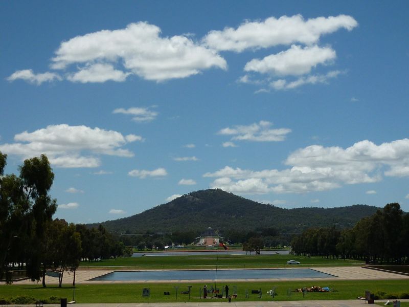view fom old parliament house canberra, australia