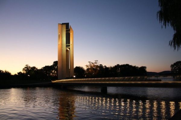 carillon at sunset