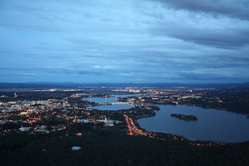 canberra from black mountain