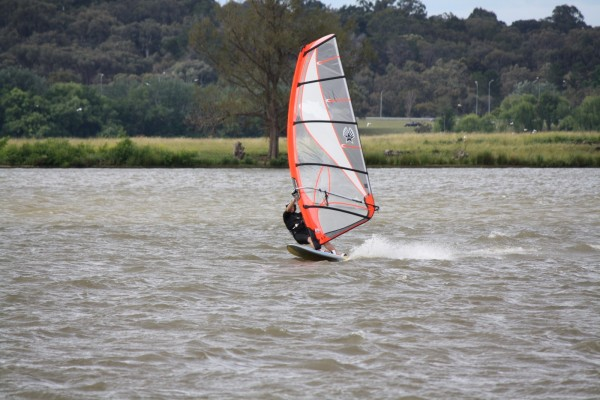 windsurfer on the lake