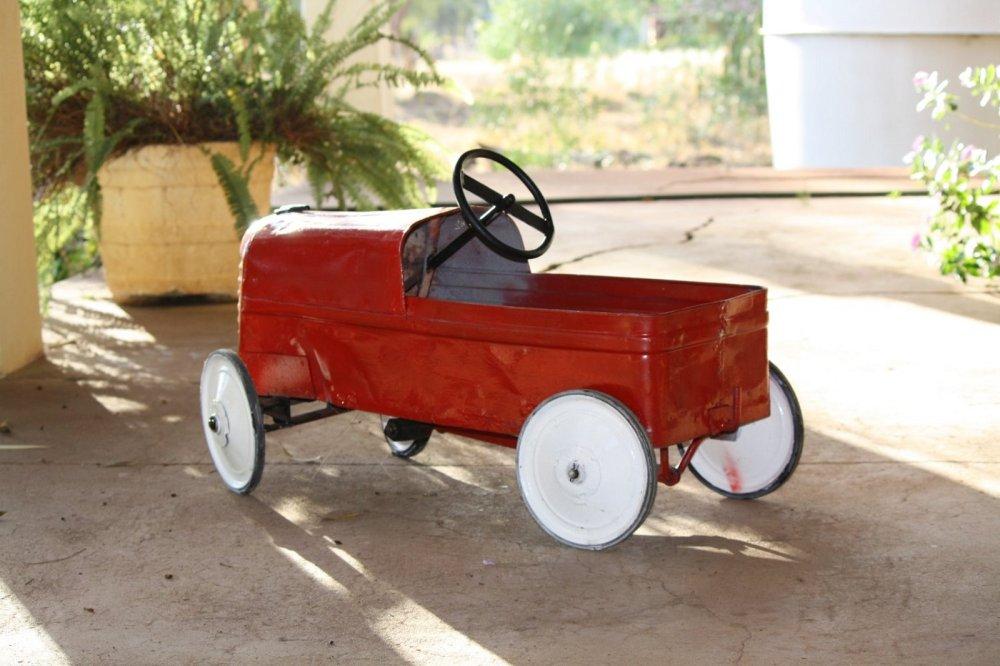 pedal car restored