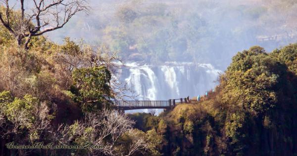 Foot bridge over the Zambezi