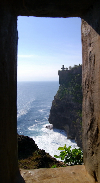 Pura from Hole, Uluwatu Bali