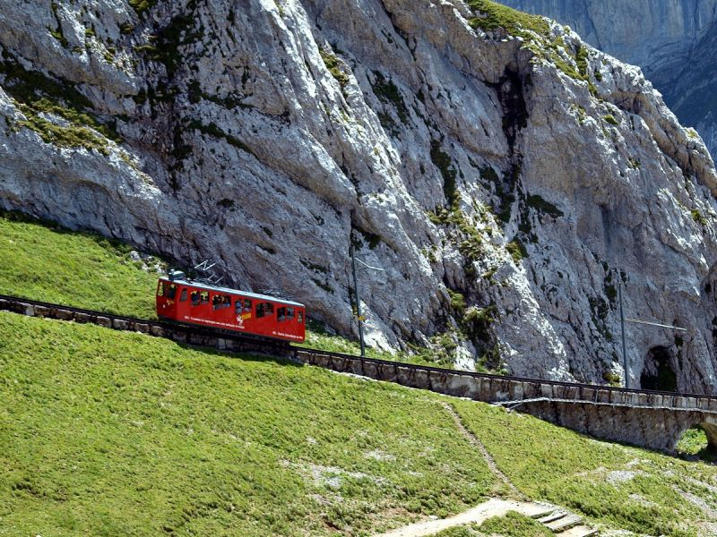 Train à crémaillère, Pilatus, suisse