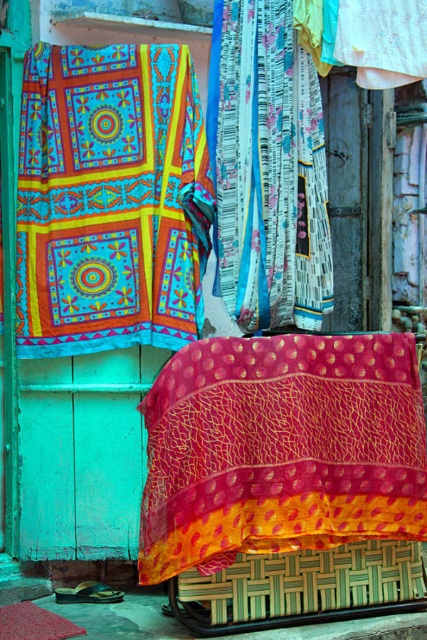 in the streets of Delhi