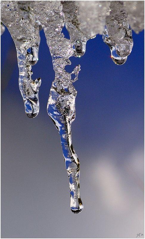 des stalactites de glace