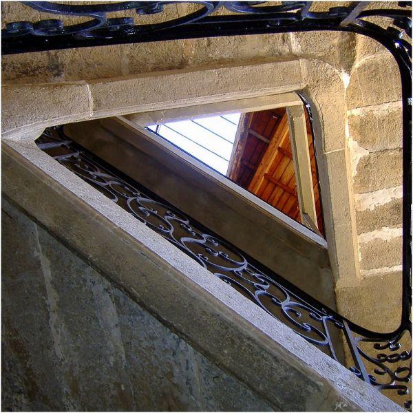 Un escalier triangulaire