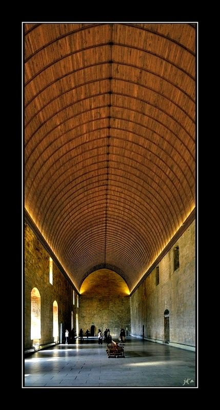 La grande salle des festins du Palais des Papes