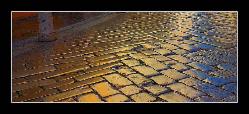 Les pavés d'or d'une rue croate