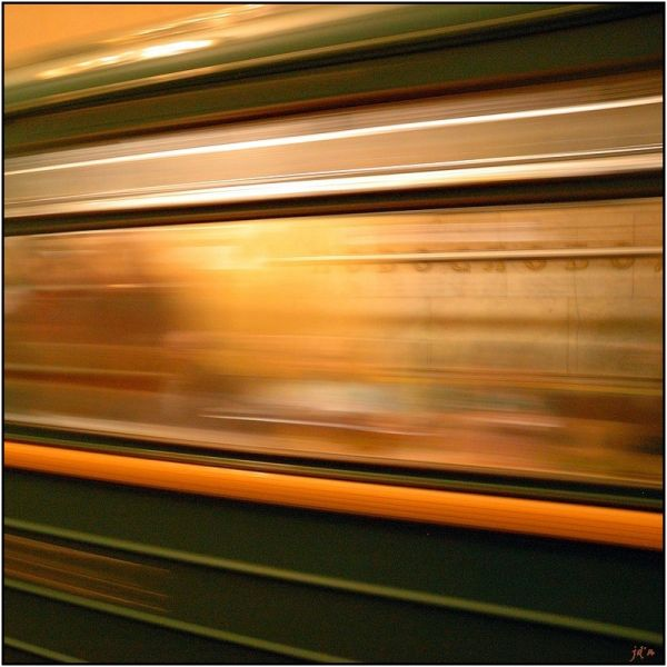 Effet de vitesse avec le métro de moscou