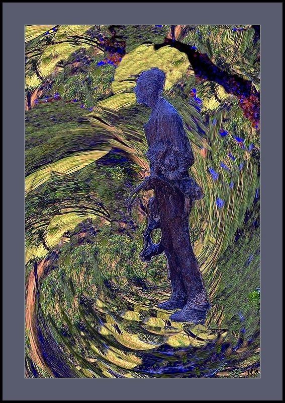 Une statue du peintre dans la nature