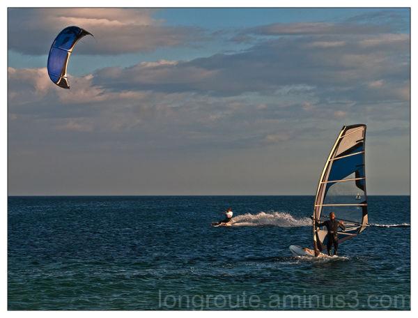 Kite surf, Cagliari, Sardinia, Italy