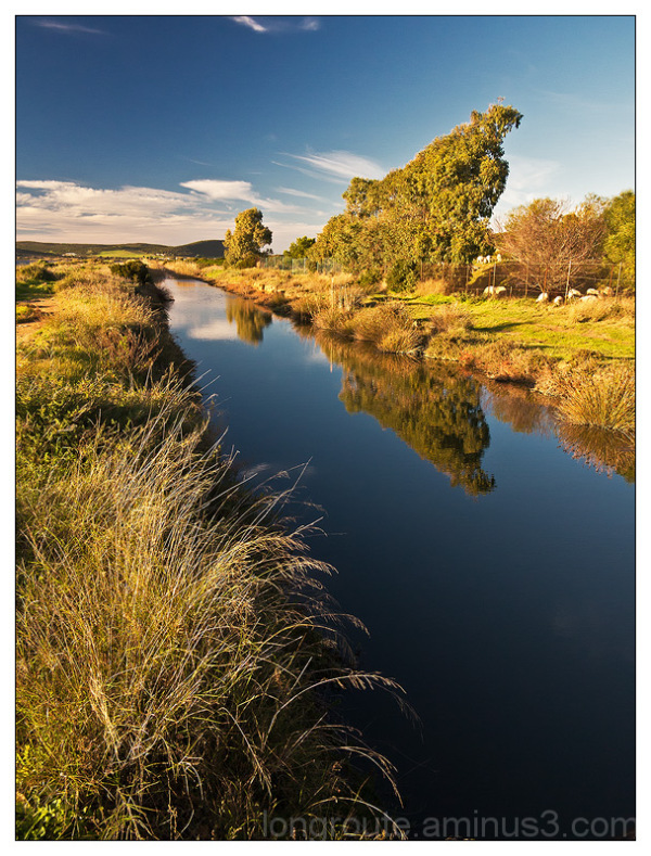 Canal in Porto Pino, Sardinia,