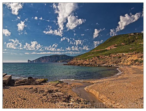 Beach of Funtanamare, South-west Sardinia