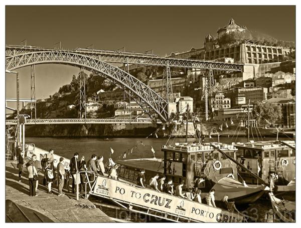 The bridge Dom Luis II in Porto