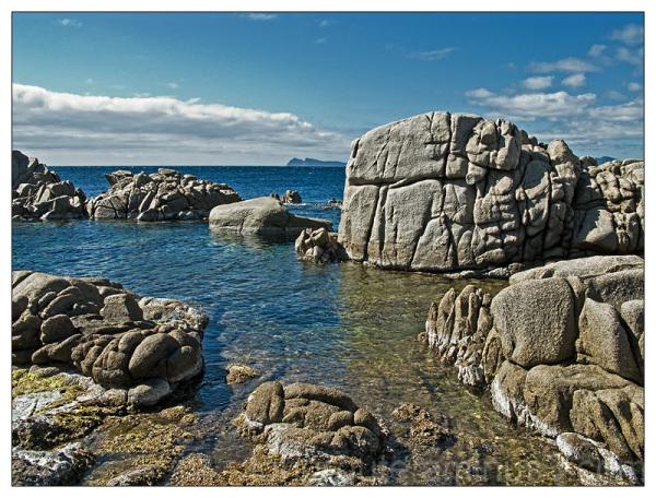 Granite rocks in south west coast of Sardinia