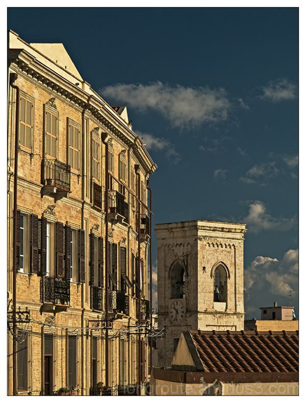 The bell tower of San Giacomo in Cagliari