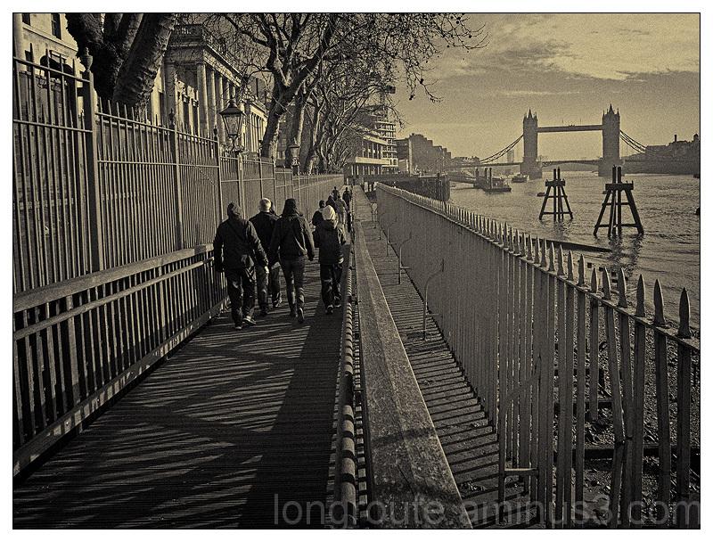 Along the Thames, London