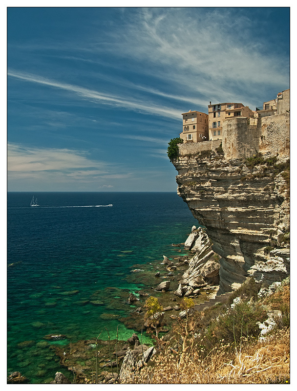 The city of Bonifacio in Corsica