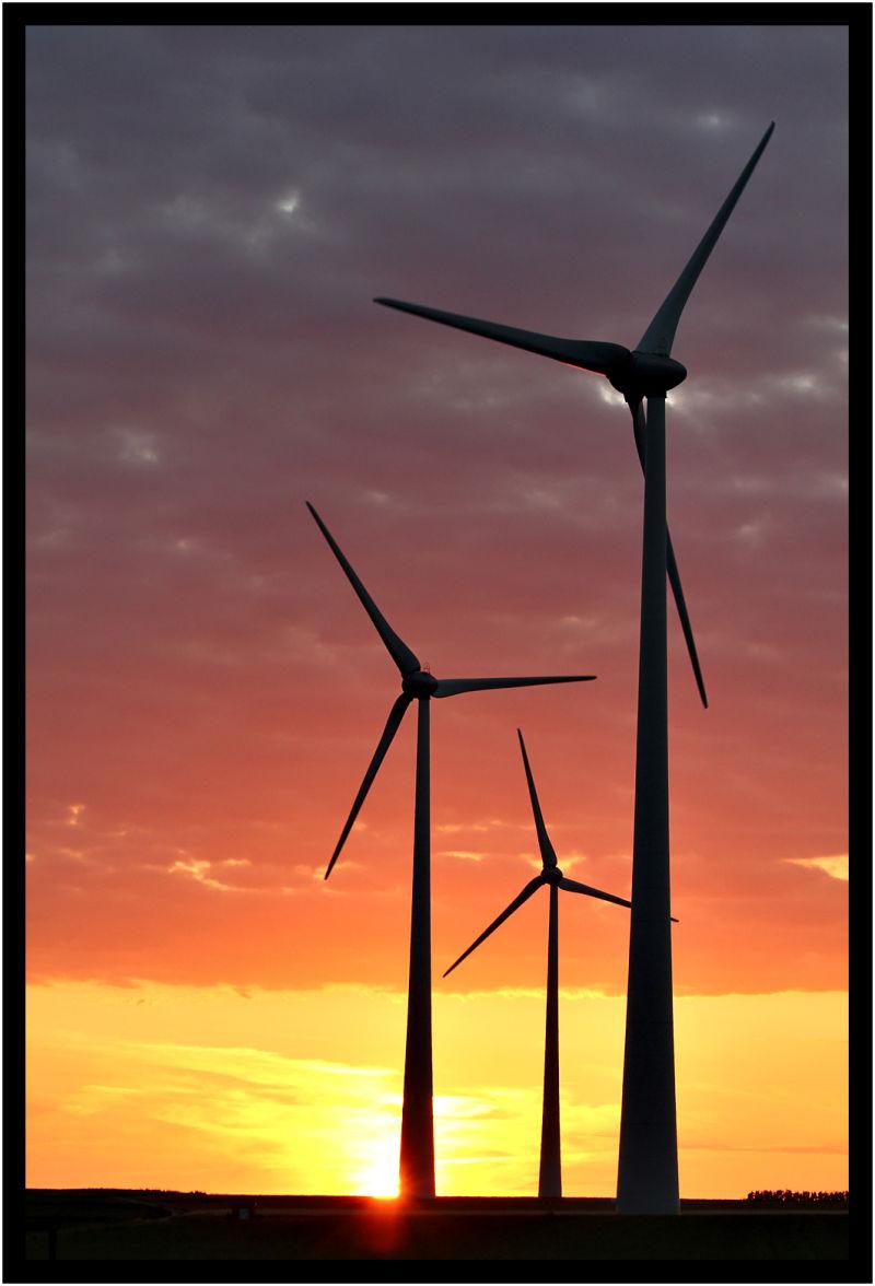 Wind turbines Eoliennes Obaix Buzet