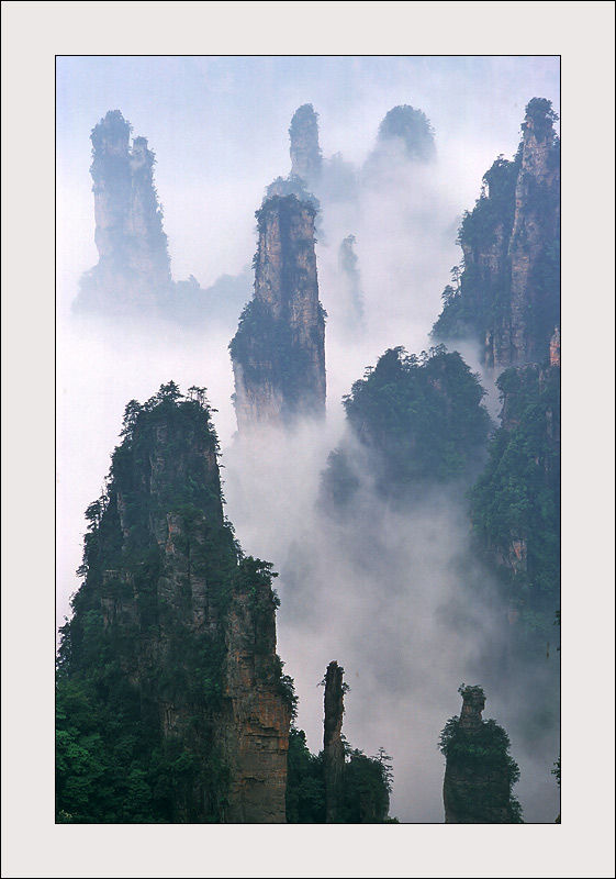 Zhangjiajie landscape in China