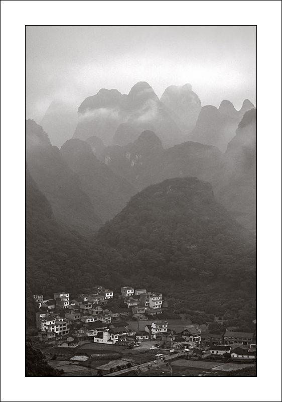 Paysages karstique autour de Yangshuo, Chine