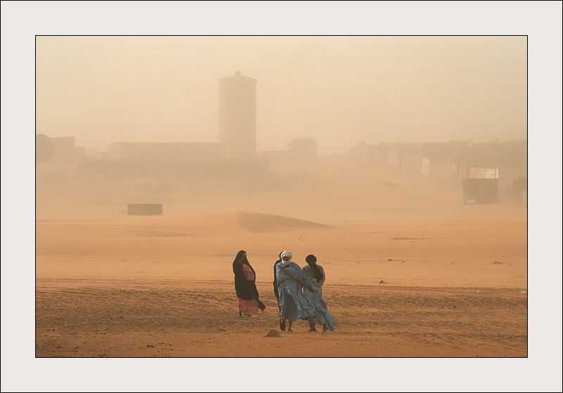 Sand storm in Chinguetti, Mauritania