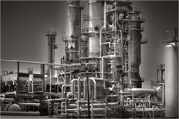 Oil refinery in Texas