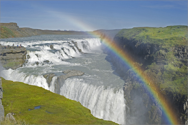Gullfoss waterfall in Thingvellir, Iceland