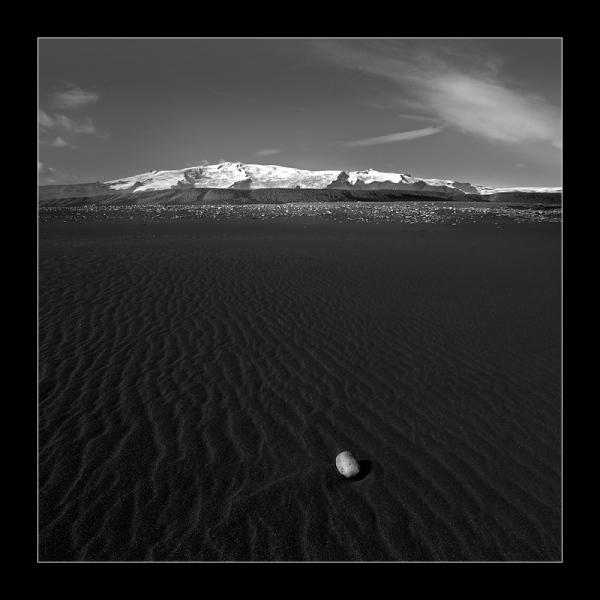 Black volcanic beach in Icelan