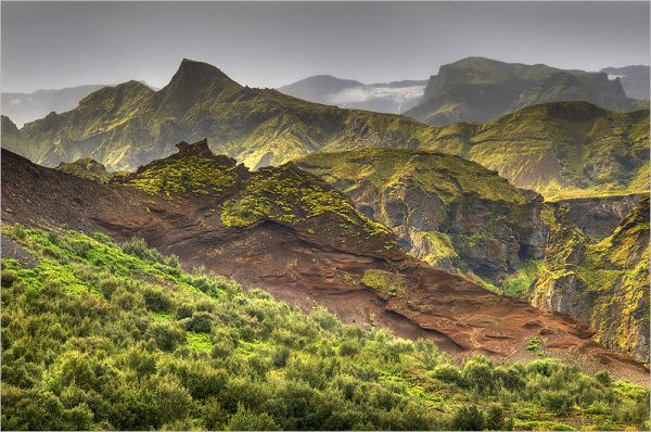 Volcanic lanscape in Iceland