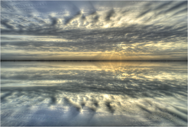 Reflection on a lake, France