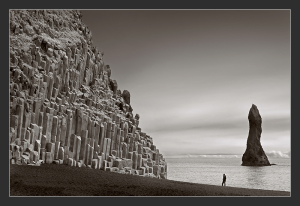 Basaltic columns in southern Iceland