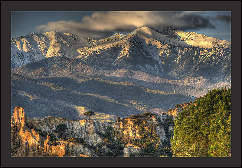 Canigou mountain at south of France