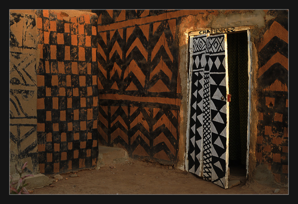 Painting on house in Burkina Faso