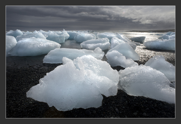 Iceberg on Jökulsàrlon beach, Iceland