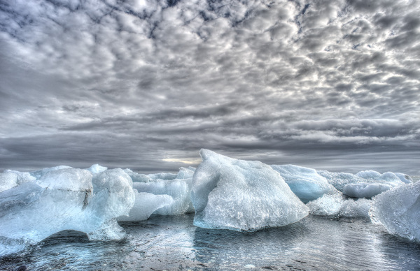 Icy lanscpape from Iceland