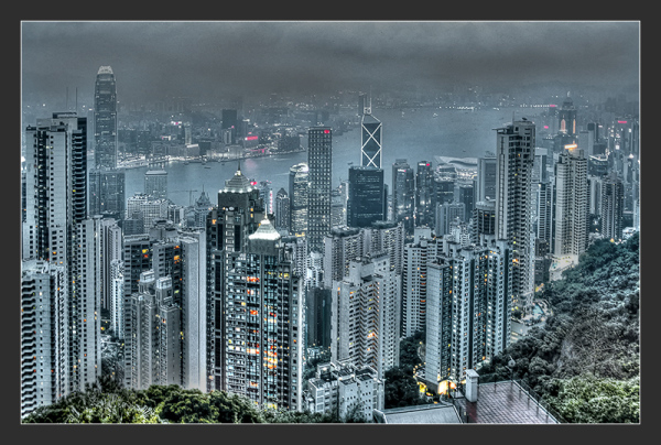 View of Hong Kong, China