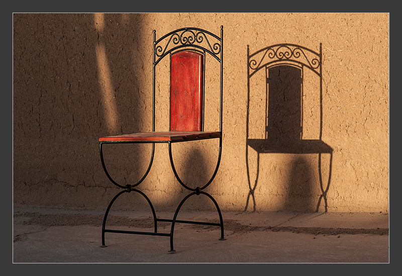 Simple chair in Marocco