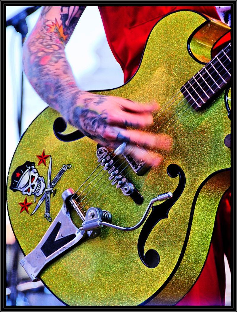 Nick Curran's Guitar Close-Up