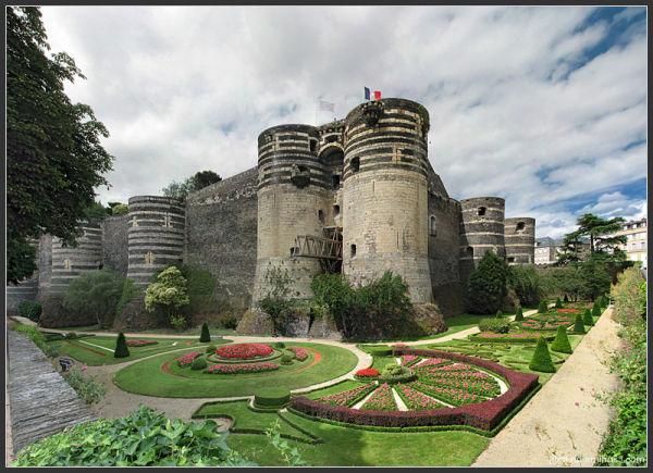 Angers castle, king rené castle, Angers