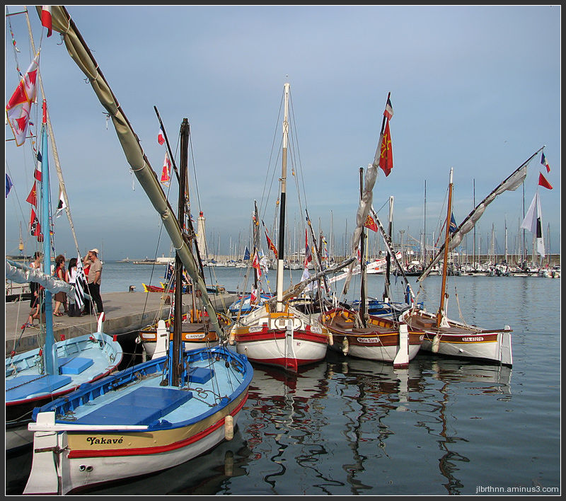 Lateen-rigged boats, Sète, Languedoc-Roussillon