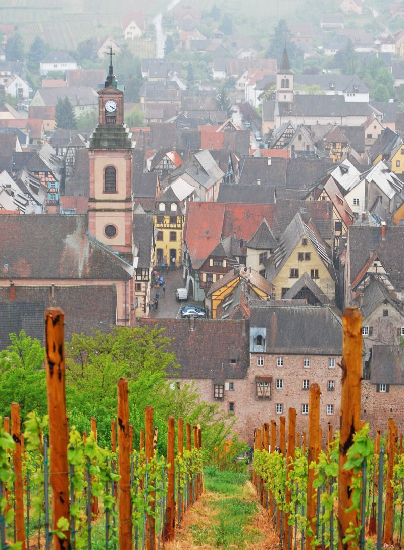 Alsace in a rainy day