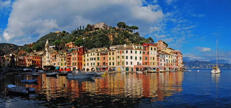 Wide view of Portofino